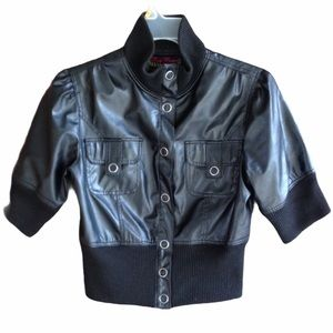 Body Central Faux Leather Jacket Size Small